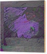 Psycho Warhol Deep Purple Wood Print