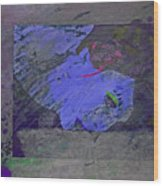 Psychowarhol Blue Wood Print