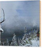 Ptarmigan Trail Overlooking Elizabeth Lake 2 - Glacier National Park Wood Print