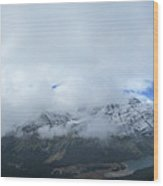 Ptarmigan Trail Overlooking Elizabeth Lake - Glacier National Park Wood Print