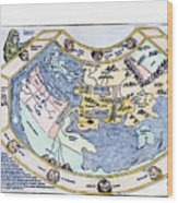 Ptolemaic World Map, 1493 Wood Print