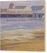 Ptown Fisherman's Wharf Wood Print