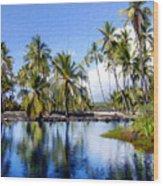 Pu Uhonua O Honaunau Pond Wood Print