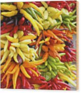 Public Market Peppers Wood Print