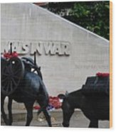 Public Memorial Honoring Military Animals In War London England Wood Print