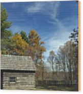 Puckett Cabin Va Wood Print