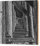 Pudding Creek Bridge  Wood Print