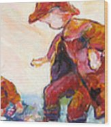 Puddle Jumpers Wood Print