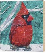 Pudgy Cardinal Wood Print