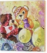 Pudsey And Truffle Mcfurry For Children In Need Wood Print