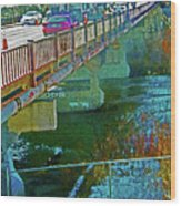 Pueblo Downtown--4th Street Bridge Wood Print