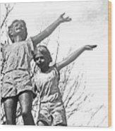 Pueblo Downtown Childrens Statue Wood Print