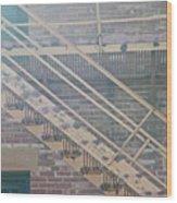 Pueblo Downtown Fire Escape Wood Print