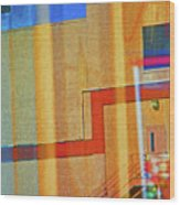 Pueblo Downtown Reflection 2 Wood Print