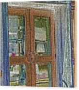 Pueblo Downtown--thatcher Building Door Wood Print