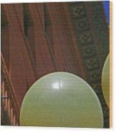 Pueblo Downtown--thatcher Building With Lamps 2 Wood Print