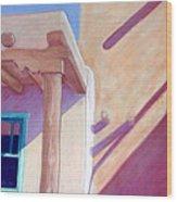 Pueblo Shadows Wood Print