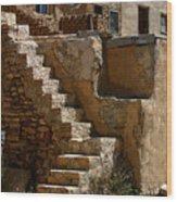 Pueblo Stairway Wood Print