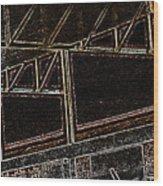 Pueblo-steel City--manufacturing Blueprint Wood Print