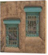 Pueblo Windows Nm Square Img_8336 Wood Print