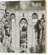 Puente Nuevo Tajo De Ronda Andalucia Spain Europe Wood Print
