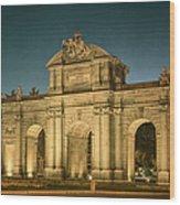 Puerta De Alcala Night Wood Print