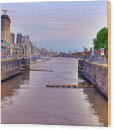 Puerto Madero Canal Wood Print
