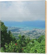 Puerto Plata Mountain View Of The Sea Wood Print
