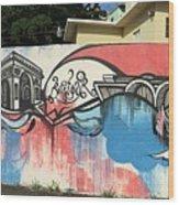 Puerto Rican Graffiti Wood Print