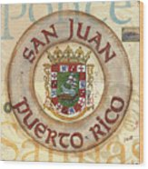 Puerto Rico Coat Of Arms Wood Print
