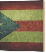 Puerto Rico Distressed Flag Dehner Wood Print