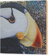 Puffin Glam Wood Print
