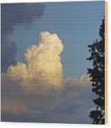 Puffy Cloud Wood Print