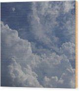 Puffy Clouds II Wood Print