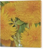 Puffy Golden Delight Wood Print