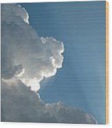 Puffy White Clouds Wood Print
