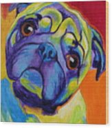 Pug - Lyle Wood Print by Alicia VanNoy Call