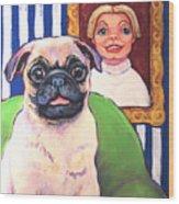 Pug - Beth Ann And Butch Wood Print
