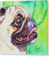 Pug Profile Wood Print