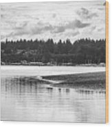 Puget Sound Reflections Wood Print