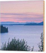 Puget Sound Twilight Wood Print