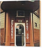 Pulaski Post Wood Print