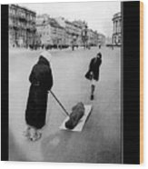 Pulling Dead Body Siege Of Leningrad Soviet Union 1941 Wood Print