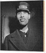 Pullman Porter At The Union Station Wood Print