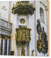 Pulpit Kalmar Cathedral Wood Print