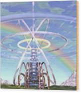 Pulsar Beacon Wood Print