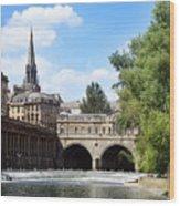 Pulteney Bridge And Weir Wood Print by Jane Rix