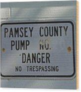 Pump Station No. 00 Wood Print