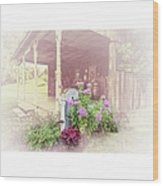 Pump With Flowers Brazeau Wood Print