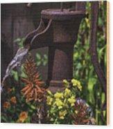 Pumping Water Wood Print